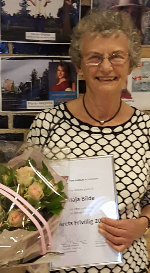 Maja Bilde- Årets frivillig i Hørsholm 2015. (Foto: Jerry Ritz)