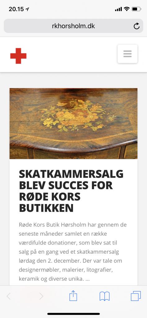 Røde Kors Hørsholm bliver tjekket fra mobilen 1