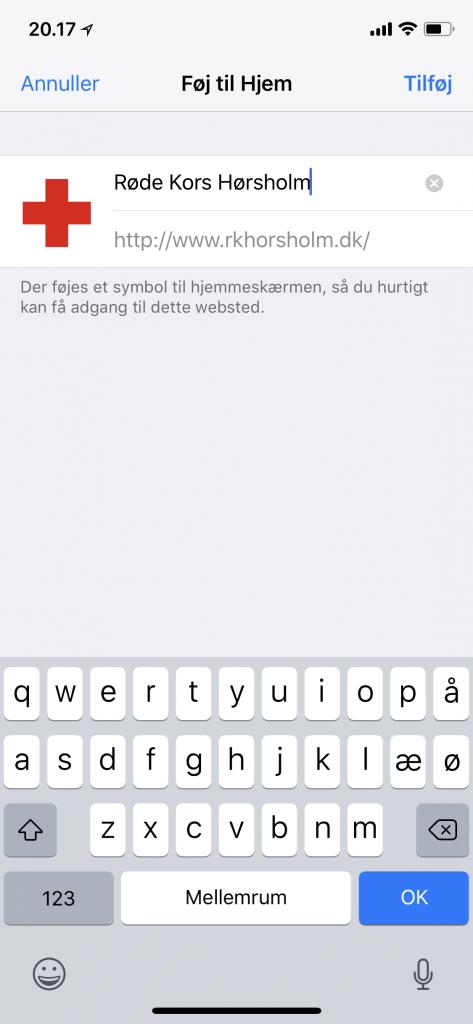 Røde Kors Hørsholm bliver tjekket fra mobilen 3