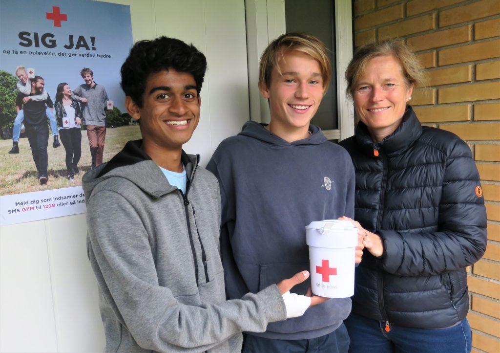 Familien Holmboe er klar til årets Røde Kors Landsindsamling i Hørsholm